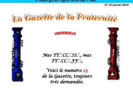 LA GAZETTE UNIVERSELLE DE LA FRATERNITÉ N° 23