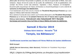 PREMIÈRES RENCONTRES DE L'ACADÉMIE MAÇONNIQUE PROVENCE