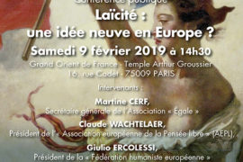 CONFERENCE : LAÏCITÉ : UNE IDÉE NEUVE EN EUROPE ?