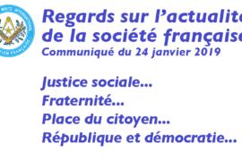 COMMUNIQUE DROIT HUMAIN – REGARD SUR L'ACTUALITÉ DE LA SOCIÉTÉ FRANÇAISE