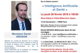 DIALOGUE ET DÉMOCRATIE FRANÇAISE – L'INTELLIGENCE ARTIFICIELLE ET LA SANTE