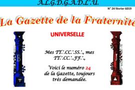LA GAZETTE UNIVERSELLE DE LA FRATERNITÉ N° 24