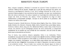 MANIFESTE POUR L'EUROPE – GLMF