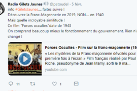 "SIC….LE FILM ANTI-MAÇONNIQUE ""FORCES OCCULTES"" PRIS EN EXEMPLE !"