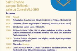 JOURNEE D'ETUDE : FRANC-MAÇONNERIE ET ORDRE RELIGIEUX