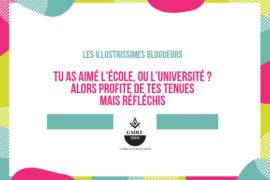 TU AS AIME L'ECOLE… PROFITE DES TES TENUES…