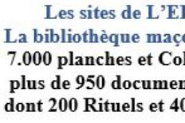L'EDIFICE® – LA BIBLIOTHÈQUE MAÇONNIQUE DU NET – PLANCHES MAÇONNIQUES