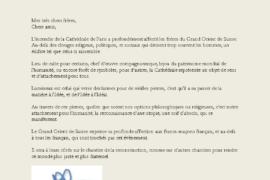 SOUTIEN DU GRAND ORIENT SUISSE – NOTRE DAME DE PARIS