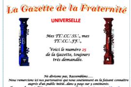 LA GAZETTE UNIVERSELLE DE LA FRATERNITÉ N° 25