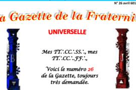 LA GAZETTE UNIVERSELLE DE LA FRATERNITÉ N° 26