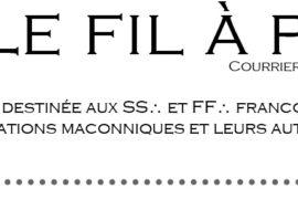 LE FIL A PLOMB, Courrier Littéraire Maçonnique