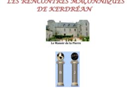 RENCONTRES MAÇONNIQUES DE KERDREAN 2020