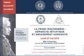 LA FRANC-MAÇONNERIE : DÉMARCHE INITIATIQUE ET ENGAGEMENT HUMANISTE