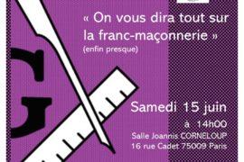 ON VOUS DIRA TOUT SUR LA FRANC-MAÇONNERIE – TBO – GODF