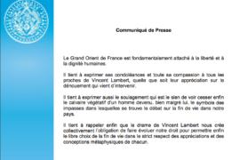 COMMUNIQUE GODF – DÉCÈS DE VINCENT LAMBERT