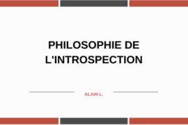 PLANCHE MAÇONNIQUE – PHILOSOPHIE DE L'INTROSPECTION