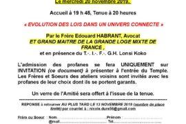 TBO – GLMF – EVOLUTION DES LOIS DANS UN UNIVERS CONNECTE