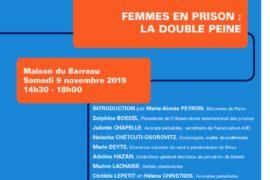 LES RENCONTRES DE LA GLFF – FEMMES EN PRISON : DOUBLE PEINE