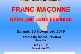 CONFERENCE GLFF – FRANC-MACONNE DANS UNE LOGE FEMININE