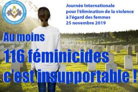 COMMUNIQUE DROIT HUMAIN SUR L'ELIMINATION DE LA VIOLENCE FAITE AUX FEMMES