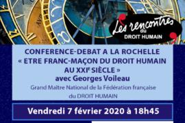 """Conférence publique à La Rochelle – """"Être Franc-Maçon du DROIT HUMAIN au XXIe siècle"""""""