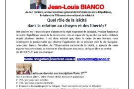 FM&S – LE 18H30 PILE ! – LA LAÏCITÉ PAR JEAN LOUIS BIANCO
