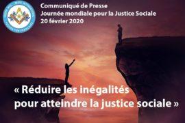 COMMUNIQUE DROIT HUMAIN –  JOURNEE MONDIALE DE LA JUSTICE SOCIALE