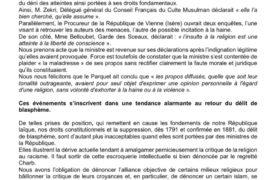 """""""NON AU RETOUR DU DÉLIT DE BLASPHÈME"""" – COLLECTIF LAÏQUE NATIONAL"""