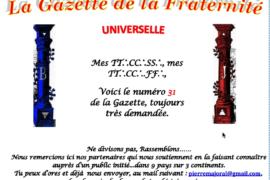 LA GAZETTE UNIVERSELLE DE LA FRATERNITÉ N° 31 : LE JOUR D'APRÈS