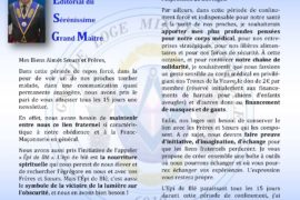 LA NEWSLETTER N°01 DE LA GRANDE LOGE MIXTE NATIONALE