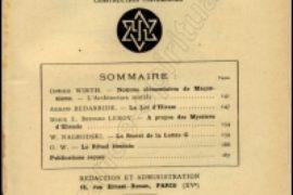 TEXTE MACONNIQUE- LE SYMBOLE DU TEMPLE DE OSWALD WIRTH