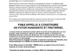 APPEL DE FM&S – CONSTRUIRE LES TEMPS NOUVEAUX