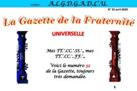 LA GAZETTE UNIVERSELLE DE LA FRATERNITÉ N° 32 – Coup d'œil et réflexion d'un confiné par le virus