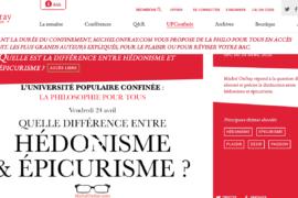 MICHELONFRAY.COM  : DE LA PHILO EN ACCÈS GARTUIT