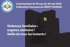 VIOLENCES FAMILIALES – COMMUNIQUE DROIT HUMAIN