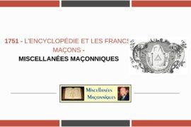L'ENCYCLOPÉDIE ET LES FRANCS-MAÇONS