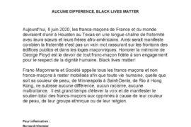 COMMUNIQUE : GEORGES FLOYD – AUCUNE DIFFÉRENCE, BLACK LIVES MATTER – FM&S