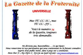 LA GAZETTE UNIVERSELLE DE LA FRATERNITÉ N° 34 – ÉCRIVONS LE JOUR D'APRÈS
