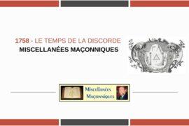 1758 – LE TEMPS DE LA DISCORDE