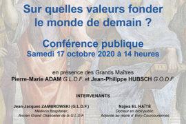 DIALOGUES MACONNIQUES GODF / GLDF – Sur quelles valeurs fonder le monde de demain ?