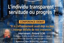 """L'INDIVIDEU TRANSPARENT"" – CONFÉRENCE DU DROIT HUMAIN"