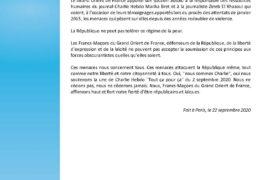 GODF – SOUTIEN À MARIKA BRET ET ZINEB EL RHAZOUI