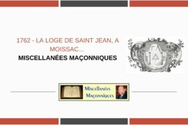 LA LOGE DE SAINT JEAN, A MOISSAC