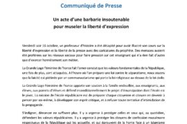 COMMUNIQUE GLFF : Un acte d'une barbarie insoutenable pour museler la liberté d'expression