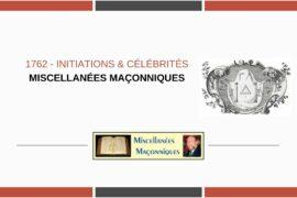 INITIATIONS & CÉLÉBRITÉS