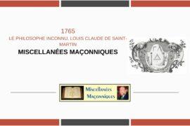 LE PHILOSOPHE INCONNU, LOUIS CLAUDE DE SAINT-MARTIN