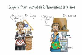 HUMOUR EN IMAGE : EPANOUISSEMENT DE LA FEMME EN FRANC-MACONNERIE