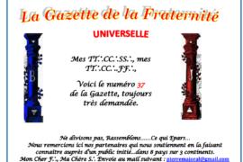 LA GAZETTE UNIVERSELLE DE LA FRATERNITÉ N° 37