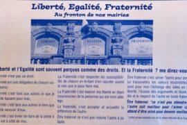 RÉFLEXION EN IMAGE : AU FRONTON DE NOS MAIRIES : LIBERTÉ, ÉGALITÉ, FRATERNITÉ
