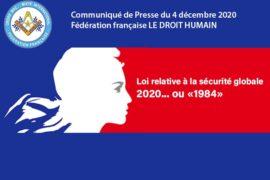 COMMUNIQUE DROIT HUMAIN – 2020… ou « 1984»
